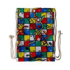 Snakes And Ladders Drawstring Bag (small)
