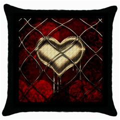 Love Hearth Background Scrapbooking Paper Throw Pillow Case (black) by Amaryn4rt