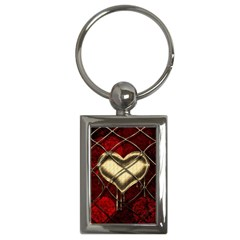 Love Hearth Background Scrapbooking Paper Key Chains (rectangle)  by Amaryn4rt