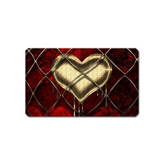 Love Hearth Background Scrapbooking Paper Magnet (name Card) by Amaryn4rt