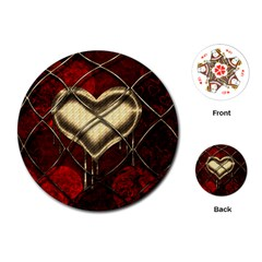 Love Hearth Background Scrapbooking Paper Playing Cards (round)  by Amaryn4rt