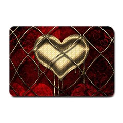 Love Hearth Background Scrapbooking Paper Small Doormat  by Amaryn4rt
