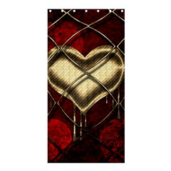 Love Hearth Background Scrapbooking Paper Shower Curtain 36  X 72  (stall)  by Amaryn4rt
