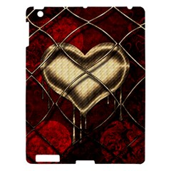 Love Hearth Background Scrapbooking Paper Apple Ipad 3/4 Hardshell Case