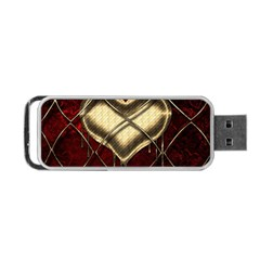 Love Hearth Background Scrapbooking Paper Portable Usb Flash (one Side) by Amaryn4rt