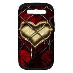 Love Hearth Background Scrapbooking Paper Samsung Galaxy S Iii Hardshell Case (pc+silicone) by Amaryn4rt