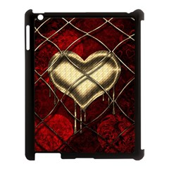 Love Hearth Background Scrapbooking Paper Apple Ipad 3/4 Case (black) by Amaryn4rt