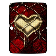 Love Hearth Background Scrapbooking Paper Samsung Galaxy Tab 3 (10 1 ) P5200 Hardshell Case  by Amaryn4rt