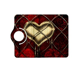 Love Hearth Background Scrapbooking Paper Kindle Fire Hd (2013) Flip 360 Case by Amaryn4rt