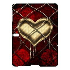 Love Hearth Background Scrapbooking Paper Samsung Galaxy Tab S (10 5 ) Hardshell Case  by Amaryn4rt