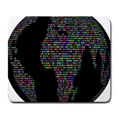World Earth Planet Globe Map Large Mousepads by Amaryn4rt