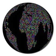 World Earth Planet Globe Map Magnet 5  (round) by Amaryn4rt