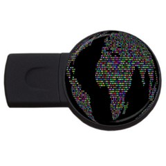World Earth Planet Globe Map Usb Flash Drive Round (4 Gb) by Amaryn4rt