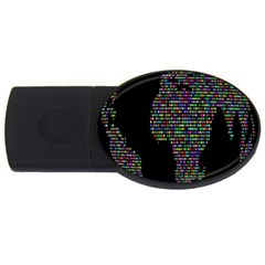 World Earth Planet Globe Map USB Flash Drive Oval (4 GB) by Amaryn4rt