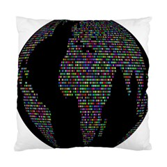 World Earth Planet Globe Map Standard Cushion Case (two Sides) by Amaryn4rt