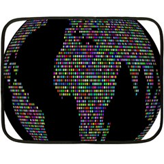 World Earth Planet Globe Map Double Sided Fleece Blanket (mini)  by Amaryn4rt
