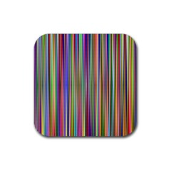 Striped Stripes Abstract Geometric Rubber Square Coaster (4 Pack)  by Amaryn4rt