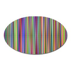 Striped Stripes Abstract Geometric Oval Magnet by Amaryn4rt