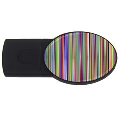 Striped Stripes Abstract Geometric Usb Flash Drive Oval (4 Gb) by Amaryn4rt
