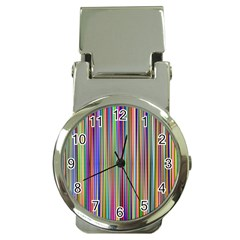 Striped Stripes Abstract Geometric Money Clip Watches by Amaryn4rt