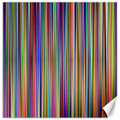 Striped Stripes Abstract Geometric Canvas 12  X 12   by Amaryn4rt
