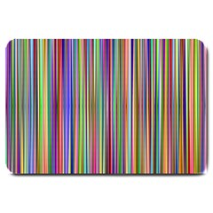 Striped Stripes Abstract Geometric Large Doormat  by Amaryn4rt