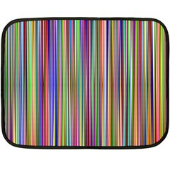 Striped Stripes Abstract Geometric Double Sided Fleece Blanket (mini)  by Amaryn4rt