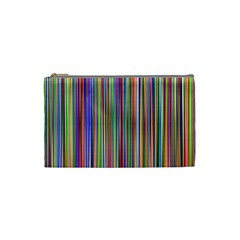 Striped Stripes Abstract Geometric Cosmetic Bag (small)  by Amaryn4rt