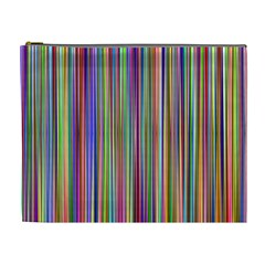 Striped Stripes Abstract Geometric Cosmetic Bag (xl) by Amaryn4rt
