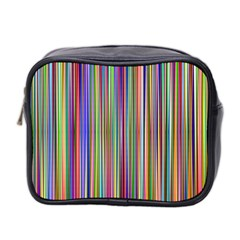 Striped Stripes Abstract Geometric Mini Toiletries Bag 2 Side by Amaryn4rt
