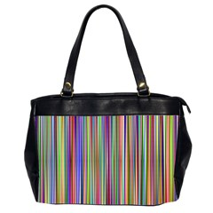 Striped Stripes Abstract Geometric Office Handbags (2 Sides)  by Amaryn4rt