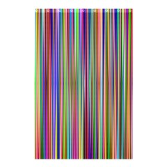Striped Stripes Abstract Geometric Shower Curtain 48  X 72  (small)  by Amaryn4rt