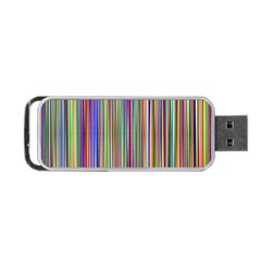 Striped Stripes Abstract Geometric Portable Usb Flash (one Side) by Amaryn4rt