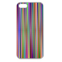 Striped Stripes Abstract Geometric Apple Seamless Iphone 5 Case (clear) by Amaryn4rt