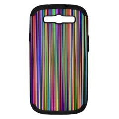 Striped Stripes Abstract Geometric Samsung Galaxy S Iii Hardshell Case (pc+silicone) by Amaryn4rt