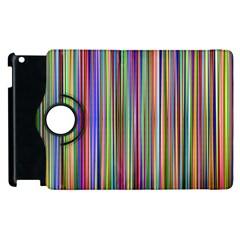 Striped Stripes Abstract Geometric Apple Ipad 2 Flip 360 Case by Amaryn4rt