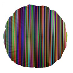 Striped Stripes Abstract Geometric Large 18  Premium Round Cushions by Amaryn4rt