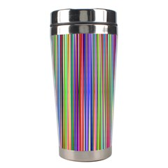Striped Stripes Abstract Geometric Stainless Steel Travel Tumblers by Amaryn4rt