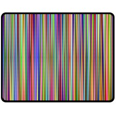 Striped Stripes Abstract Geometric Double Sided Fleece Blanket (medium)  by Amaryn4rt