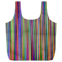 Striped Stripes Abstract Geometric Full Print Recycle Bags (l)  by Amaryn4rt