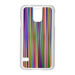Striped Stripes Abstract Geometric Samsung Galaxy S5 Case (white) by Amaryn4rt