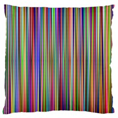 Striped Stripes Abstract Geometric Large Flano Cushion Case (two Sides) by Amaryn4rt