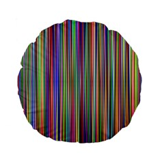 Striped Stripes Abstract Geometric Standard 15  Premium Flano Round Cushions by Amaryn4rt