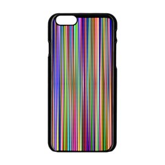 Striped Stripes Abstract Geometric Apple Iphone 6/6s Black Enamel Case by Amaryn4rt