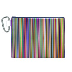 Striped Stripes Abstract Geometric Canvas Cosmetic Bag (xl) by Amaryn4rt