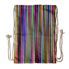 Striped Stripes Abstract Geometric Drawstring Bag (large) by Amaryn4rt