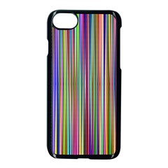 Striped Stripes Abstract Geometric Apple Iphone 7 Seamless Case (black) by Amaryn4rt