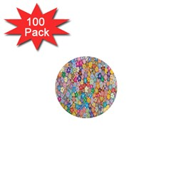 Sakura Cherry Blossom Floral 1  Mini Magnets (100 Pack)  by Amaryn4rt