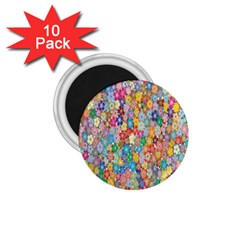 Sakura Cherry Blossom Floral 1 75  Magnets (10 Pack)  by Amaryn4rt