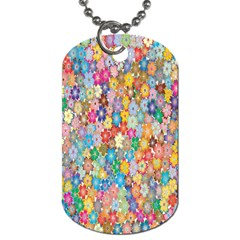Sakura Cherry Blossom Floral Dog Tag (two Sides) by Amaryn4rt